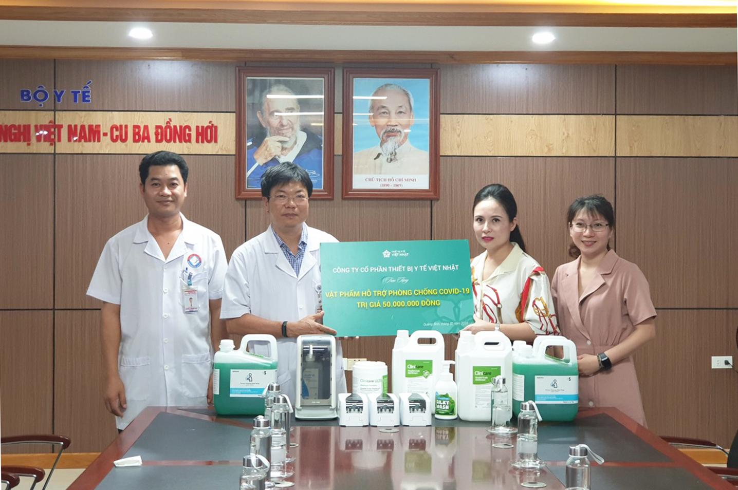 JVC trao tặng vật tư y tế phòng, chống dịch Covid-19