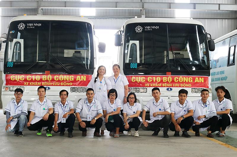 Việt Nhật Clinic tiễn đoàn lên đường chụp X-Quang phổi cho các đơn vị trực thuộc Bộ Công An