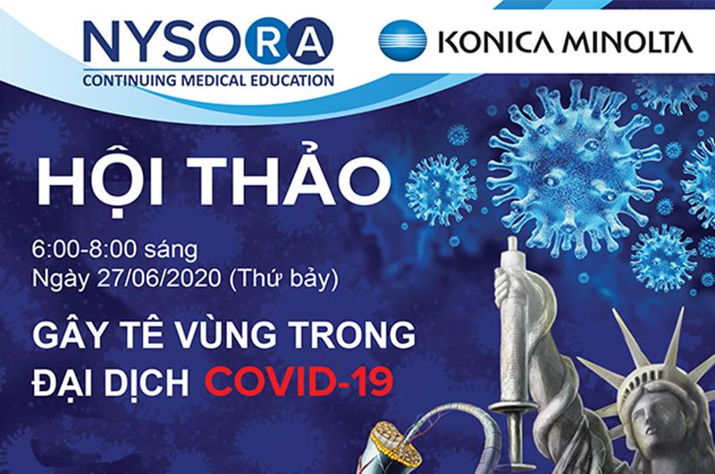 Hội thảo trực tuyến: Gây tê vùng trong đại dịch Covid-19